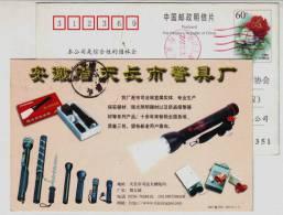 Policeman Flashlight,Police Alarm,Police Sting,electric Baton,CN 01 Tianchang Police Apparatus Factory Pre-stamped Card - Police - Gendarmerie