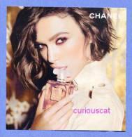 COCO MADEMOISELLE   EAU De PARFUM  SPRAY  By CHANEL  PERFUME CARD ADVERTISEMENT - Perfume Cards