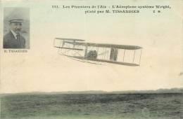 TISSANDIER SUR AEROPLANE SYSTEME WRIGHT LES PIONNIERS DE L'AIR EDITION MALCUIT COLORISEE - ....-1914: Précurseurs