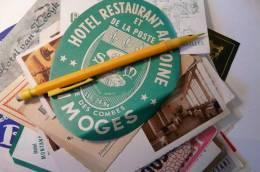 Etiquette Ancienne Hotel Restaurant Antoine Rue De Combes Limoges - Cartoncini Da Visita