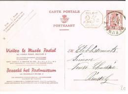 Carte Illustrée 34FN M1 Propagande Pour Le Musée Postal / Postmuseum, Oblitérée Péruwelz - Cartes Illustrées