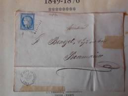 L155. Lettre Avec N° 60.de  St Jean De Losne GC3571.varietés,verso Rapide Lyon Mars.,et Ambulant.A Voir!! - 1871-1875 Ceres