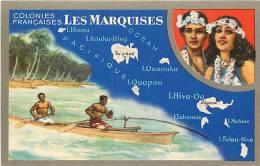 Oceanie- Ref 85- Les Marquises -edition Speciale Du Lion Noir -carte Bon Etat - - French Polynesia