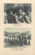 Oceanie- Ref 82- Papouasie Nouvelle Guinée -types De La Montagne    -carte Bon Etat - - Papua Nuova Guinea