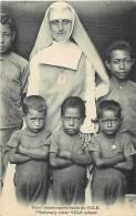 Oceanie- Ref 76- Papouasie Nouvelle Guinée -soeur Missionnaire Ecole De Yule    -carte Bon Etat - - Papua Nuova Guinea