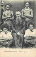 Oceanie- Ref 75- Papouasie Nouvelle Guinée -missionnaire   -carte Bon Etat - - Papua Nuova Guinea