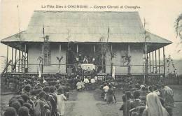 Oceanie- Ref 74- Papouasie Nouvelle Guinée - La Fete Dieu A Ononghe   -carte Bon Etat - - Papua Nuova Guinea