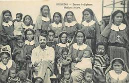 Oceanie- Ref 73- Papouasie Nouvelle Guinée - Kubuna -soeurs Indigenes   -carte Bon Etat - - Papua Nuova Guinea