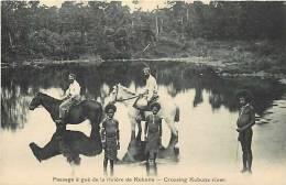Oceanie- Ref 68- Papouasie Nouvelle Guinée -mekeo- Passage A Gué De La Riviere De Kubuna -carte Bon Etat - - Papua Nuova Guinea