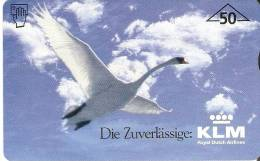 F-271 TARJETA DE AUSTRIA DE UN CISNE VOLANDO  KLM   50 UNITS TIRADA 760  DUMMY (BIRD-PAJARO-AVION-PLANE) - Autriche