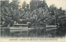 Oceanie- Ref 58- Papouasie Nouvelle Guinée -arapokina - L Entree En Nouvelle Guinée- Carte Bon Etat  - - Papua Nuova Guinea