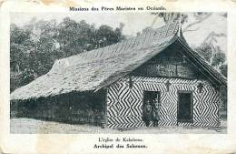 Oceanie- Ref 54- Mission Mariste D Oceanie-  L Egise De Kakabona -archipel De Salomon - Solomon Islands