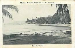 Oceanie- Ref 52- Missions Maristes D Oceanie-  Iles Salomon -baie De Visale - Salomon
