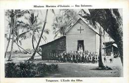 Oceanie- Ref 50- Missions Maristes D Oceanie-  Iles Salomon -tangarare -l Ecole Des Filles  -carte Bon Etat - Solomon Islands
