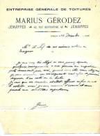 Jemappes - 1930 - Marius Gérodez - Entreprise Générale De Toitures - Unclassified