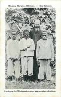 Oceanie- Ref 48- Missions Maristes D Oceanie-  Iles Salomon -le Doyen Des Missionnaires - Carte Bon Etat - - Solomon Islands