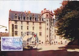 CARTE  MAXIMUM  FRANCE N° 2048  (NANTES - Château)  Obl Sp Ill 1er Jour (Ed La Cigogne 73) - 1970-79