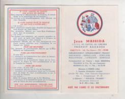 CALENDRIER - ANNEE 1968 - JEAN MASSIDA - TRANSIT BAGAGES - Petit Format : 1961-70