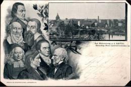 ! 1899 Alte Ansichtskarte Landsberg A.d. Warthe , Fichte, Jahn, Pestalozzi, Diesterweg, Francke, Gorzów Wielkopolski - Polonia
