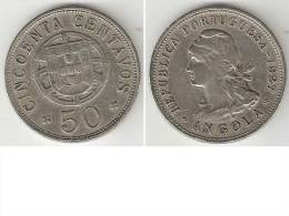 *angola 50 Centavos 1927 Km69  Vf  * - Angola