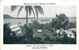 Oceanie- Ref 44- Oceanie - Missions Des Peres Maristes En Oceanie -rade De Port Vila -nouvelles Hebrides- - Postcards