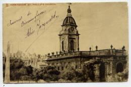 Royaume-Uni-BIRMINGHAM--St Phillip's Church--belle Carte Postale Ancienne - Birmingham