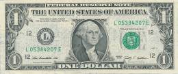 The United States Of America, One Dollar, Series 2009 L., Original, Banknote, Geldschein - Billetes De La Reserva Federal (1928-...)