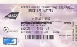 Billet Concert : BRUCE SPRINGSTEEN & E-STREET BAND, Palais Omnisports Paris-Bercy (5 Juillet 2012) - Tickets De Concerts