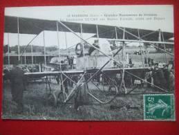 """27 - LE NEUBOURG ( Eure ) - GRANDES MANOEUVRES DE DIVISION - LE LIEUTENANT """" LUCAS """" SUR BIPLAN FARMAN .... - Le Neubourg"""