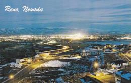 Panorama Of Reno Potraying The City's Night Activities,  Reno,  Nevada,  40-60s - Reno