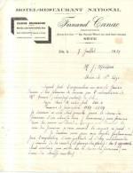 34 742 SETE HERAULT 1939 Hotel Resaurant FERNAND CANAC Ave De La Gare Rue Pons De L' Herault - 1900 – 1949
