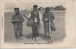 CPA, Coutainville, Départ Pour La Pêche - Autres Communes