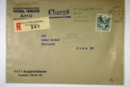 Switserland: Registered Cover 1948 Zürich -> Jona , Chargé