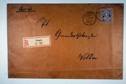 Switserland: Registered Cover 1900, Flaach -> Volken , Chargé, 15 C Purper