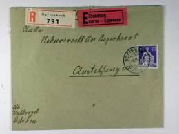 Switserland: Registered + Express Cover 1941, Neftenbach Andelfingen, Mi 171 Geriffeltes Papier