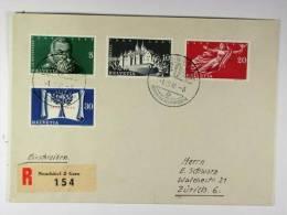 Switserland: Registered  Cover 1948, Mi 496-499
