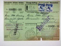 Switserland:  1941, Einzugs Auftrag , Paar 30 C