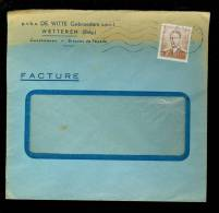1028 Op Brief Gebroeders De Witte  Gevelstenen  Wetteren  ( B47 ) - Belgique