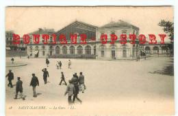 OF < GARE Du TRAIN à St Nazaire - Railway Station - Bahnhof - Edition Précurseur 1900 - Gares - Sans Trains