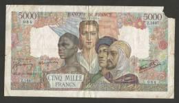 FRANCE - BANQUE DE FRANCE - 5000 Francs EMPIRE FRANCAIS (1945)  CG. 25 10 1945 CG. - 5 000 F 1942-1947 ''Empire Français''