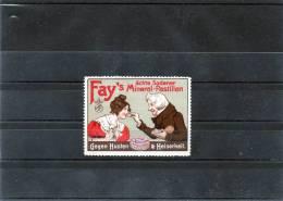 Vignette Publicitaire ( FAY's Mineral-Pastillen Gegen Husten ) (vign/ S/colle) - Erinnofilia