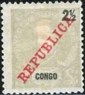 CONGO, COLONIA PORTOGHESE, PORTUGUESE COLONY, KING CARLOS, 1911,  NUOVO (MLH*), Scott 60 - Congo Portoghese