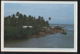 Malaysia Old Post Card 1990 Fishing Village In Duyung Island Kuala Terengganu - Malaysia
