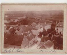 PHOTO 89 MAILLY LE CHATEAU Vue Du Clocher Sur Le Village Période Fin XIX° Format 12.5 X 9.5 Cms Rare - Places