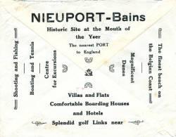 397/20 - BELGIQUE - Lettre Publicitaire NIEUPORT Bains , Villas , Hotels , Splendid GOLF , TENNIS , Shooting - Golf