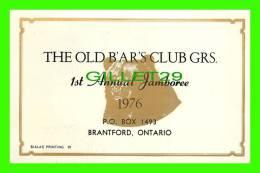 BRANTFORD, ONTARIO - THE OLD B'AR'S CLUB GRS - 1st ANNUAL JAMBOREE 1976 - - Ontario