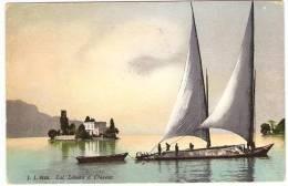 Lac  Léman  à  Clarens    ( Cachet Postes Militaires Belges ) - VD Vaud
