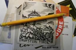 étiquette Ancienne Illustrée  Hotel Kufstein Tirol - Fatture & Documenti Commerciali