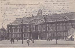 Liège - Palais De Justice - Façade Principale (animée, Publicité Hôtel Du Lion Noir, Précurseur) - Liege