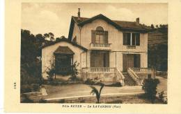 CPA 83 LE LAVANDOU VILLA REYER  JOLI PLAN - Francia